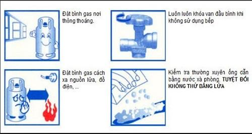 Cách sử dụng bình gas an toàn